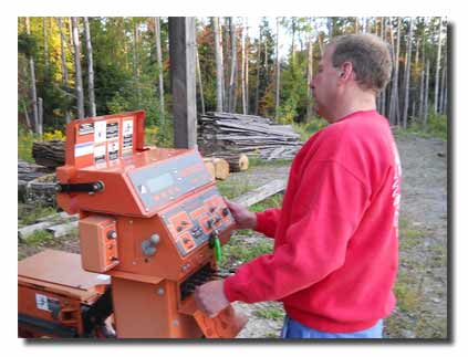 Thats me, Mike Grover. Owner of Saw it Coming Portable sawmill sevice